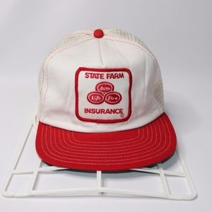 info for 8fa43 d3823 Vintage State Farm Insurance Patch Trucker Hat Cap